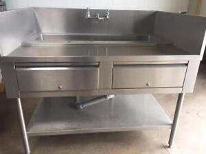 Stainless Steel Washing Station/Sink/Table
