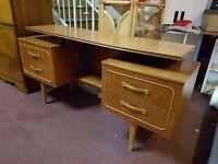 Retro style Teak 4 drawer Dressing Table or Desk