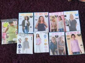 9 super sewing patterns - for a range of ladies tops - pack E
