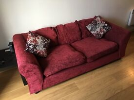 3 and 2 seater sofas with 2 matching footstools