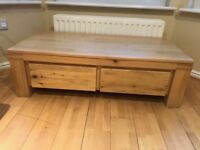 Solid Oak Coffee Table with great storage