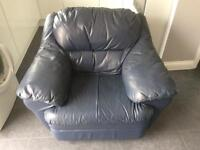 Free Blue Leather Armchair