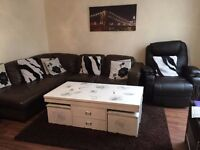 Massage Chair, Corner Sofa, Coffee Table- All included