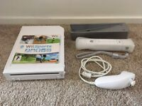 Nintendo Wii in a White with Wii Sports