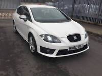 SEAT LEON FR 2010 DSG WHITE, 69k FULLY LOADED, SAT NAV, P/SENSORS