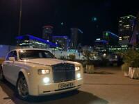 Rolls Royce Phantom Bentley Wedding Prom Chauffeur Car Hire