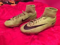 Nike green mercurial football boots