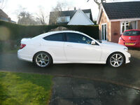 Mercedes C Class Coupe C220 CDI BlueEFFICIENCY AMG Sport Sport Coupe 7G-Tronic Plus Panoramic Roof