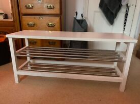 White Shoe Rack (Perfect condition)