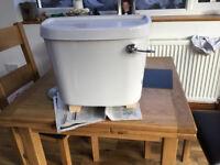 White Ceramic Toilet Cistern (wall mounted)
