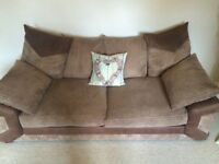 2 large two seater sofas