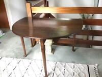 Antique drop leaf dining table dark oak
