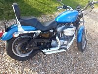 HARLEY DAVIDSON 883 HUGGER SPORTSTER WITH LONG MOT STAGE 1 TUNED WITH VANCE & HINES EXHAUST