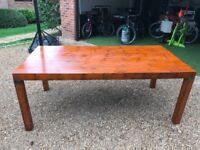 Unique Asian bamboo top table