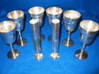 6 plated goblets