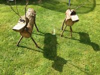 Large rustic handmade reindeer, perfect for christmas £25 each