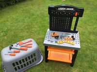 Plastic workbench and tools