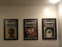 oasis promo posters orginal and framed