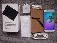 SAMSUNG GALAXY A5 6 SM-A510F WHITE 16GB 2016 MODEL, EE, ORANGE, Virgin Mobile, Asda, BT, Plusnet +