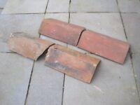 Reclaimed ridge tiles x 4. £10.
