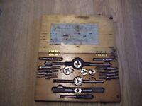 Vintage Tap & Die Set British Standard Fine (BSF) non-metric