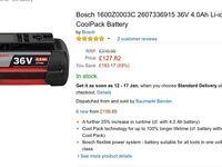 Bosch 36v battery for sell