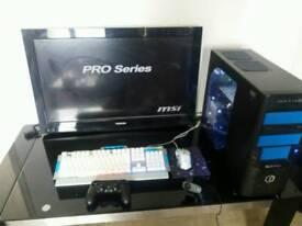 Whole gaming pc setup