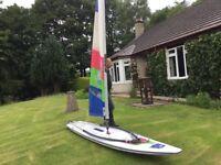 Sailboard with sail