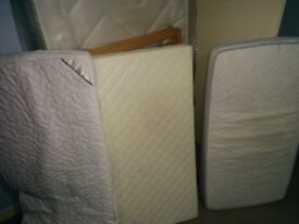 2 baby cot mattress and a topper in very good condition