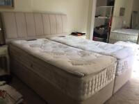 Now sold. Super Kingsize Four Drawer divan bed and mattress