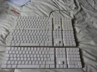 For parts or repair 3 Genuine Apple Keyboard complete with all the keys