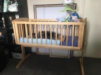 Swing crib and mattress only