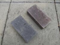 BLOCK PAVING TILES - RED AND GREY