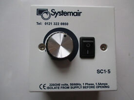 Systemair STL1.5 Electronic speed controller. Single phase, 1.5amps