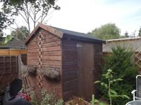 6ft x 6ft Garden Shed. No windows, Roof re-felted last year. very good condition.