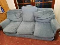Sofa Bundle Suite - Blue Sofa (Triple + 2x Single + Single Chair) Sofa Fabric Couch