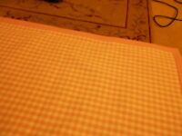 Laura Ashley pink gingham 100% cotton rug approx 120cm x 186cm v.good condition