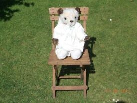 Vintage Childs Folding Chair for Teddy / Doll
