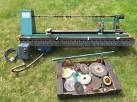Wood turning Lathe with Brook Crompton Parkinson Motor+extra grinding wheels