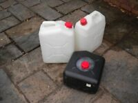 3 X 20L PLASTIC WATER WASTE CONTAINER