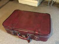 Vintage vinyl suitcase wedding project