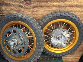 VARIOUS MOTORBIKE WHEELS