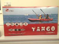 2 man kayak z-pro Tango TA200 in red.