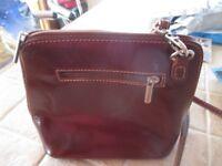 ladies leather handbag. Genuine Italian leather, with shoulder strap.