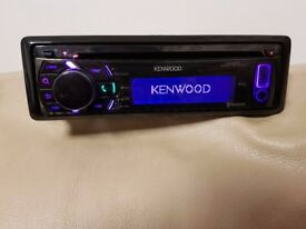 CAR HEAD UNIT KENWOOD BT51U MP3 CD PLAYER WITH BLUETOOTH USB AUX 4x 50 AMPLIFIER AMP STEREO RADIO BT