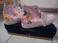Converse All Star Pink Flowers Size 5 (37.5)