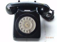 RETRO PHONE MODEL 746 TMA 70/1 IN BLACK