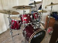 Mapex V-Series Drum Kit, with Paiste Cymbals, and Accessories