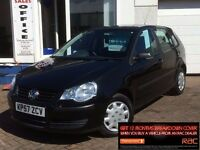 2007 57 VW POLO 1.2 60PS E*BLACK*5 DOOR*POLO*VERY LOW MILES*FSH~NOW REDUCED!!~