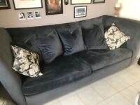 Italian Velvet 4 seater sofa